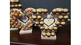 Stojak Serce Mały na Ferrero Rocher lub/i Rafaello