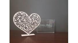 Ażurkowe serce ze sklejki drewnianej