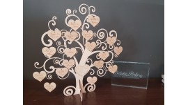 Księga gości w formie drzewka/40 serc-80gości
