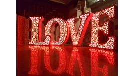 Napis Ażurowy Love