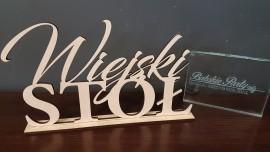 Drewniany Napis Wiejski Stół