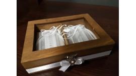 Pudełko na obrączki z okienkiem