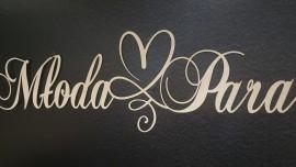 Napis Młoda Para ze sklejki drewnianej