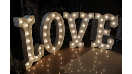 Napisy świetlne LOVE WESTERN - Wynajem