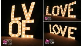 Napisy Świetlne LOVE Broadway 50cm - Wynajem