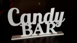 Candy Bar - napis 3D na słodki stół