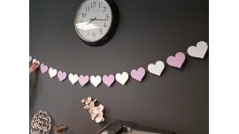 Girlanda z dwukolorowych serc